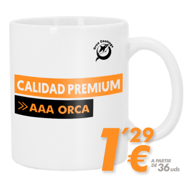 Taza blanca para sublimación - Calidad Premium AAA ORCA