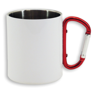 Taza para sublimación de acero inoxidable blanco de 300ml