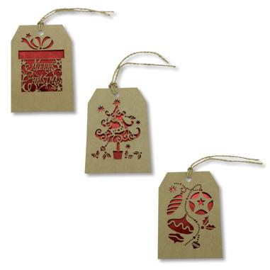 Tarjetas de Navidad colgantes - Pack de 10 uds