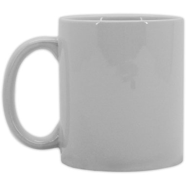 Taza blanca económica de 10-11 onzas