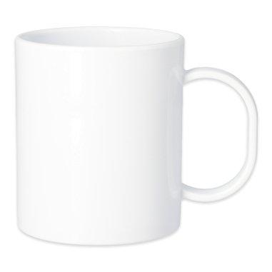 Taza blanca para sublimación de plástico