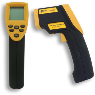 Termómetro digital con infrarrojos - Detalle termómetro digital