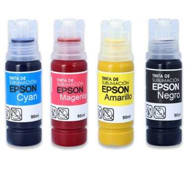 Tintas de sublimación Epson UltraChrome DS en botella de 90ml