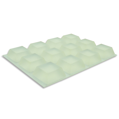 Topes de goma autoadhesivos de 19 x 19 x 9 mm