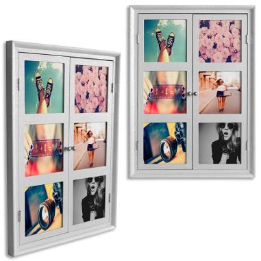Ventana con paneles fotográficos