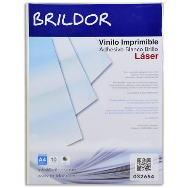 Vinilo Adhesivo Imprimible Láser Blanco Brillo - Embalaje