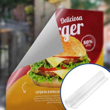 Vinilo imprimible reposicionable con microsucción Blanco satinado 1370mm - Ejemplo de personalización y uso