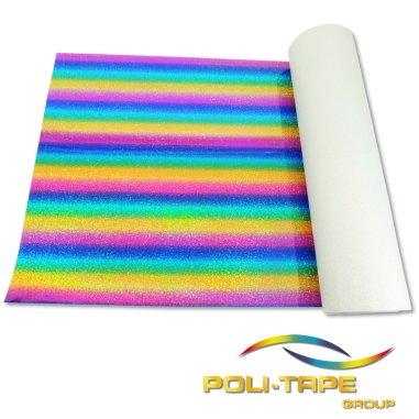 Vinilo Textil Holográfico Starflex de Poli-tape - Color 496 Multicolor