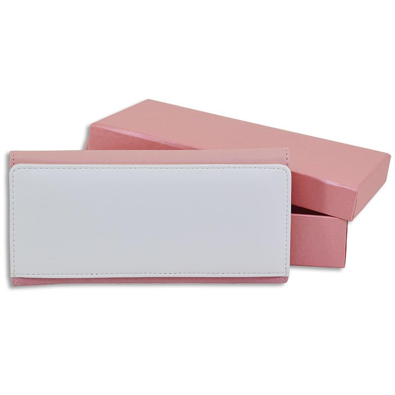 Billeteros de piel sintética con estuche - Billetero y estuche rosa 7d66453dbf5a