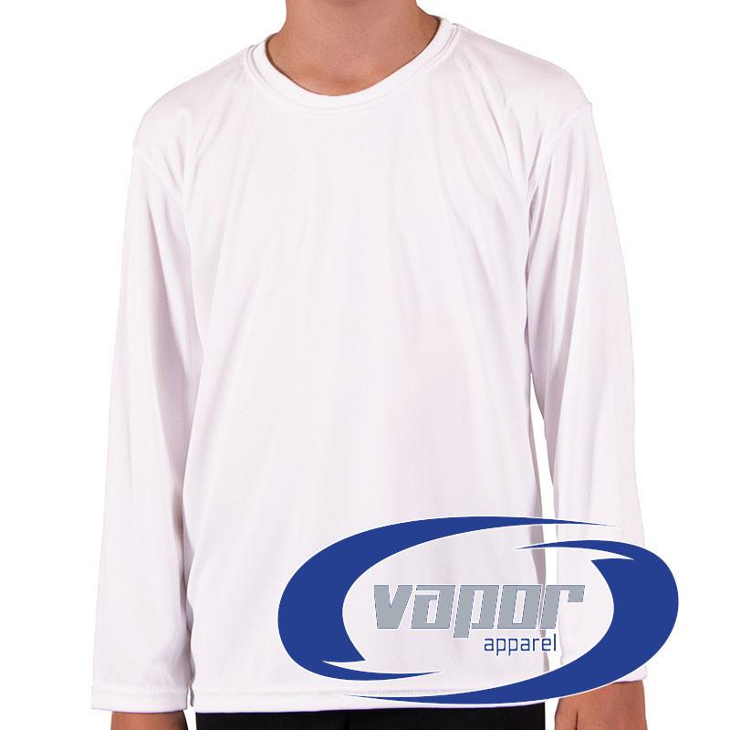 Camiseta de niño Vapor Apparel con protección solar manga larga para ... bf216a832b370