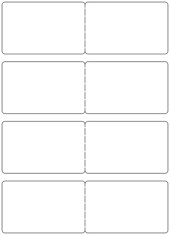 Hoja A4 Plástica Imprimible Láser Con 4 Tarjetas Doble Cara Pack De 10 Uds