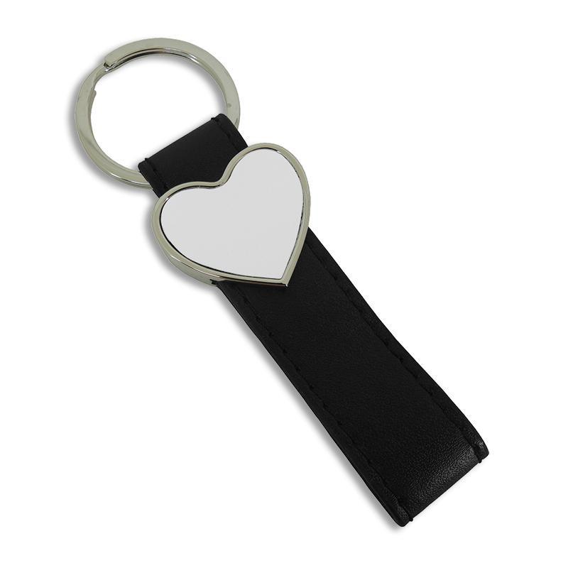 Llavero metal corazón con trabilla personalizable por sublimación ...