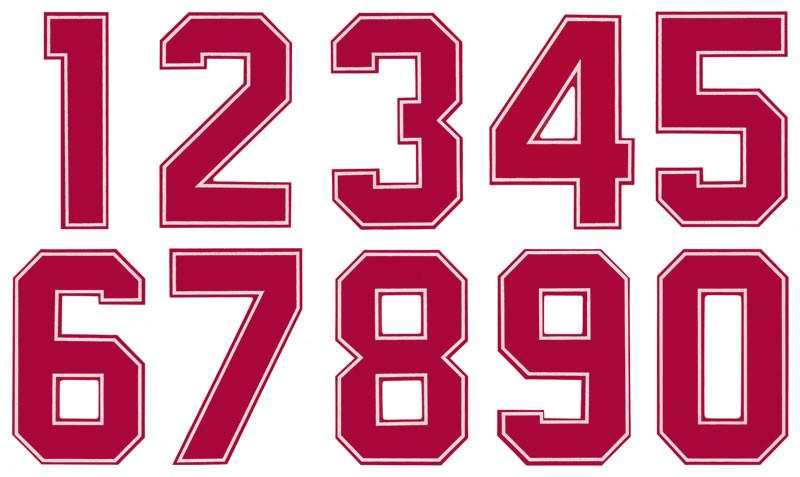 números tejidos americano 2d brildor