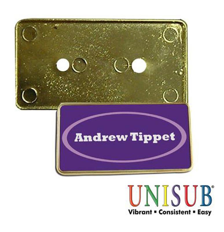 Marco dorado para placa identificativa de plástico • Brildor ®