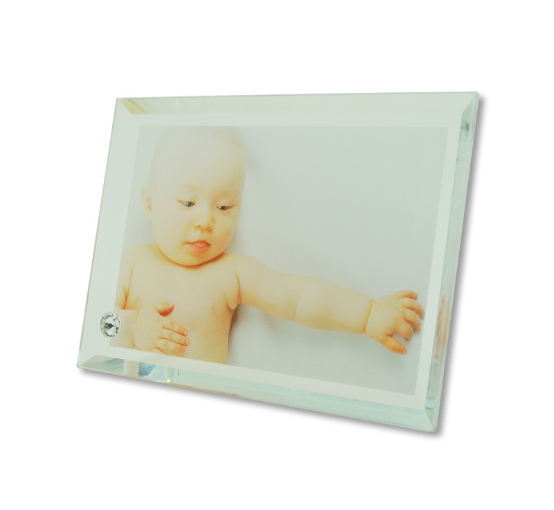 Portafotos de cristal de 180 x 130 mm para sublimar • Brildor ®