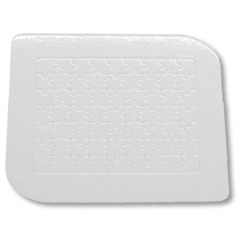Puzzle de cartón 63 piezas con marco y peana para sublimar • Brildor ®