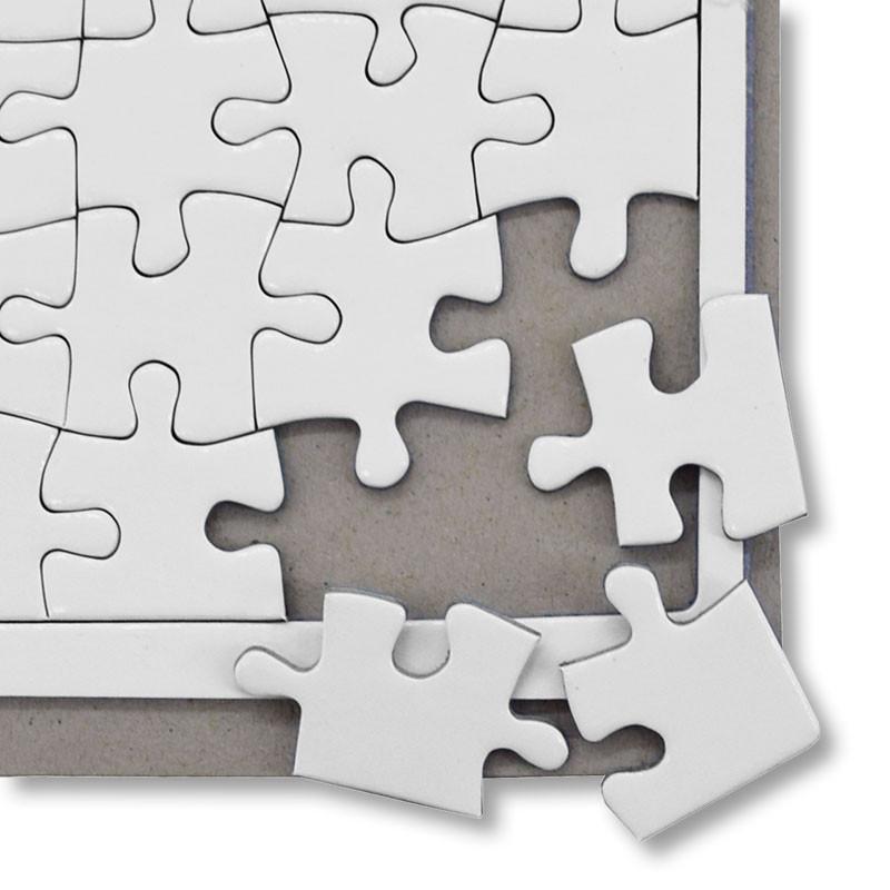 Puzzle de cartón de 48 piezas con marco sublimable • Brildor ®
