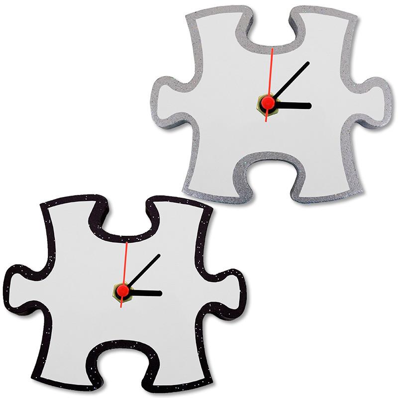 Relojes Pared De Madera Lacada Piezas Puzzle Forma Yvb76mIyfg