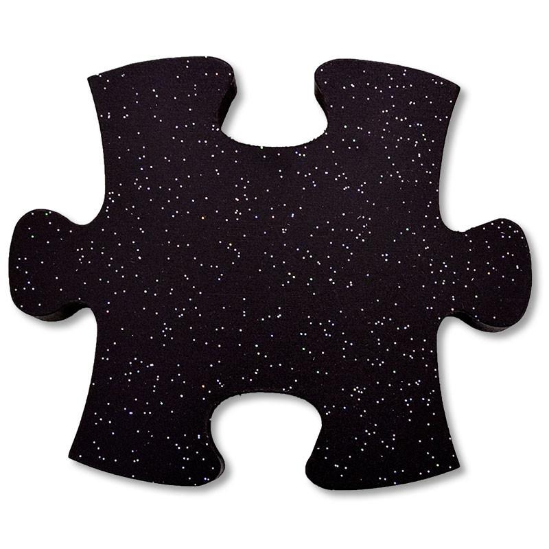 Relojes de pared forma piezas de puzzle de madera lacada • Brildor ®