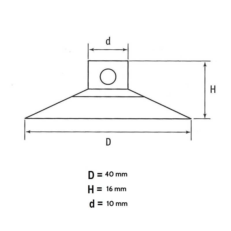 20 mm corte plano ventosas 50 unidades 50er//20 Pack ventosa para cadena de luces