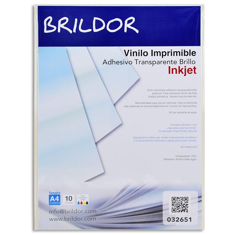 Vinilo Adhesivo Imprimible Inkjet Pack De 10 Hojas