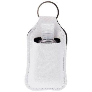 Llavero porta gel hidroalcohólico para sublimación y su botella