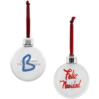 """Adorno forma bola """"Feliz Navidad"""" para árbol de Navidad - Vista de la carátula"""