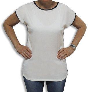 Blusa Eliana para sublimación con espalda negra - Frontal sin personalizar