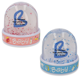 Bolas de nieve bebé con foto