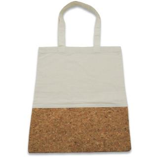 Bolsa 100% algodón color crudo con corcho natural