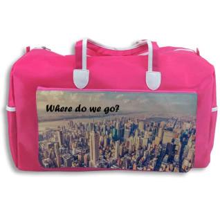 Bolsa de viaje rosa