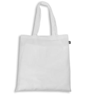 Bolsa para sublimación de tela de poliéster reciclado blanca