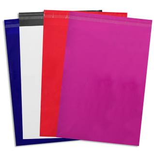 Bolsas de colores con cierre autoadhesivo