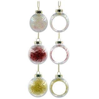 Bolas de navidad con relleno de colores