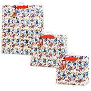Bolsas de regalo diseño cohetes - Pack de 5 uds