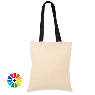 Bolsa de tela con asas largas - Algodón 105g - Colores - Pack de 5 uds (Personalizables)