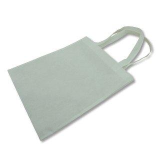 Bolsa para sublimación de tela TST blanca con fuelle