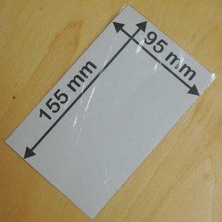 Bolsa transparente de 100µ de 95 x 155 mm sin fuelle