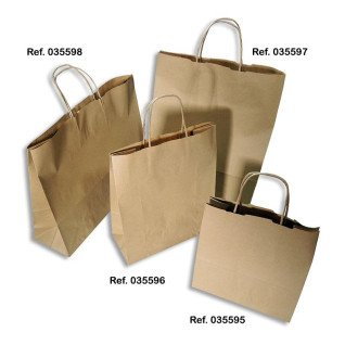 Bolsas de papel kraft - Packs de 10 uds