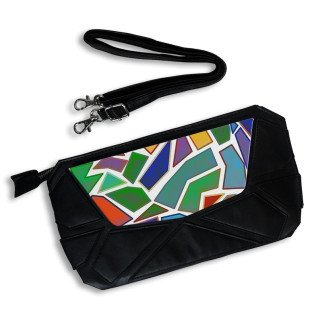 Bolso de mano símil piel formas geométricas Personalizado