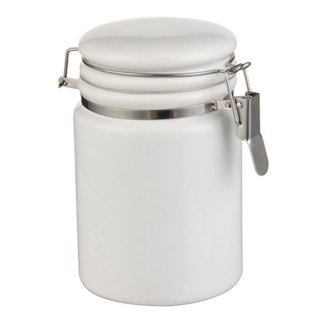 Bote de cerámica con cierre metálico