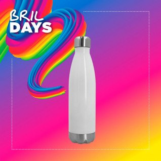 Botella termo 500ml de acero inoxidable blanca - Brildays 2020