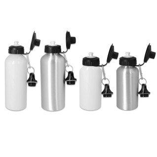 Botella de viaje de aluminio con tapón dosificador