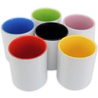 Botes de cerámica de 11oz con interior de color