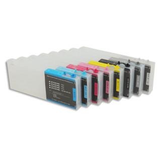 Cartucho rellenable 300ml para Epson 4880 y Texjet con chip autoreseteable