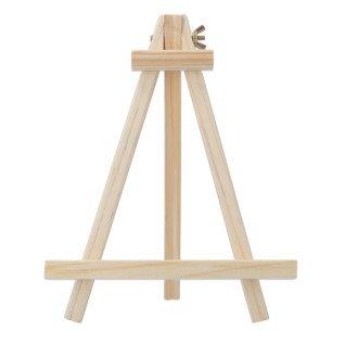 Caballete de madera clara