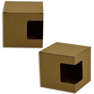 Caja de cartón con ventana para taza