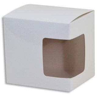 Caja de cartón con ventana sublimable para tazas