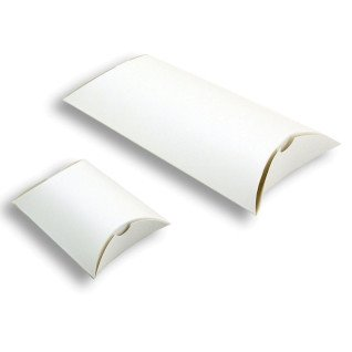 Cajas almohada blancas