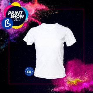 Camiseta de chica para sublimación de 190g tacto algodón - BPRINT SHOW 2021